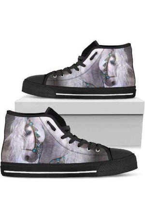 High Top Horse Image Shoes-Shoes-Pillow Profits-2-US5.5 (EU36)-Three Wild Horses