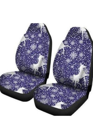 Snowy Horses Car Seat Covers-Car Seats Covers-Pillow Profits-Universal Fit-Three Wild Horses