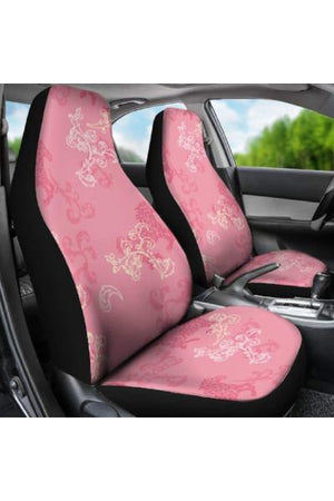 Pink Horse Pattern Car Seat Covers-Car Seats Covers-Pillow Profits-Universal Fit-Three Wild Horses