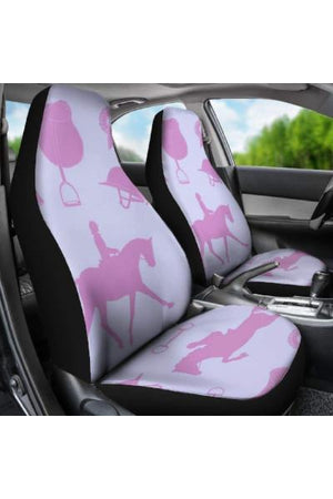 Horse Riding Car Seat Covers-Car Seats Covers-Pillow Profits-Universal Fit-Three Wild Horses