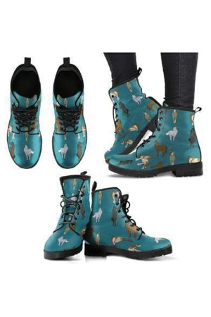 Horse Pattern PU Leather Boots-Boots-Pillow Profits-1-US5 (EU35)-Three Wild Horses