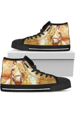 High Top Horse Image Shoes-Shoes-Pillow Profits-4-US5.5 (EU36)-Three Wild Horses