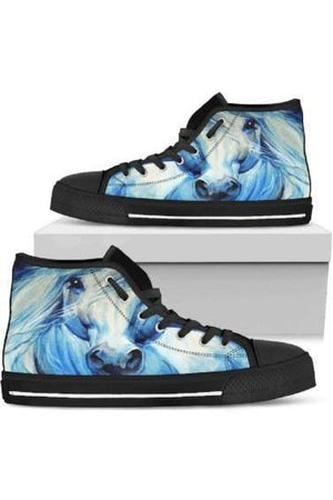 High Top Horse Image Shoes-Shoes-Pillow Profits-5-US5.5 (EU36)-Three Wild Horses