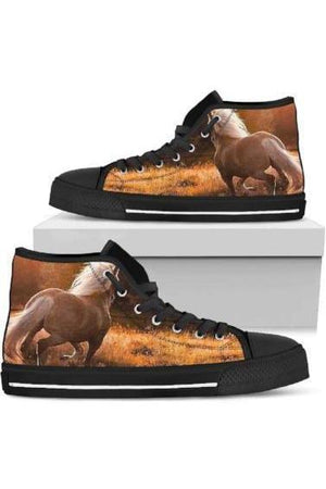 High Top Horse Image Shoes-Shoes-Pillow Profits-6-US5.5 (EU36)-Three Wild Horses