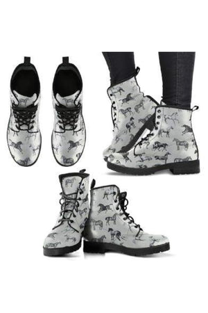 Horse Pattern PU Leather Boots-Boots-Pillow Profits-4-US5 (EU35)-Three Wild Horses