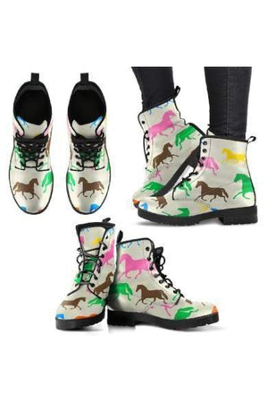 Horse Pattern PU Leather Boots-Boots-Pillow Profits-5-US5 (EU35)-Three Wild Horses