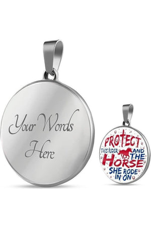 Protect the Rider and Horse - Necklace or Bangle-Jewelry-ShineOn Fulfillment-Luxury Necklace (Silver)-Yes-Three Wild Horses