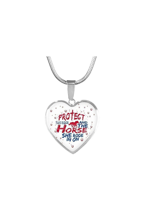 Protect the Rider and Horse - Heart Necklace or Bangle