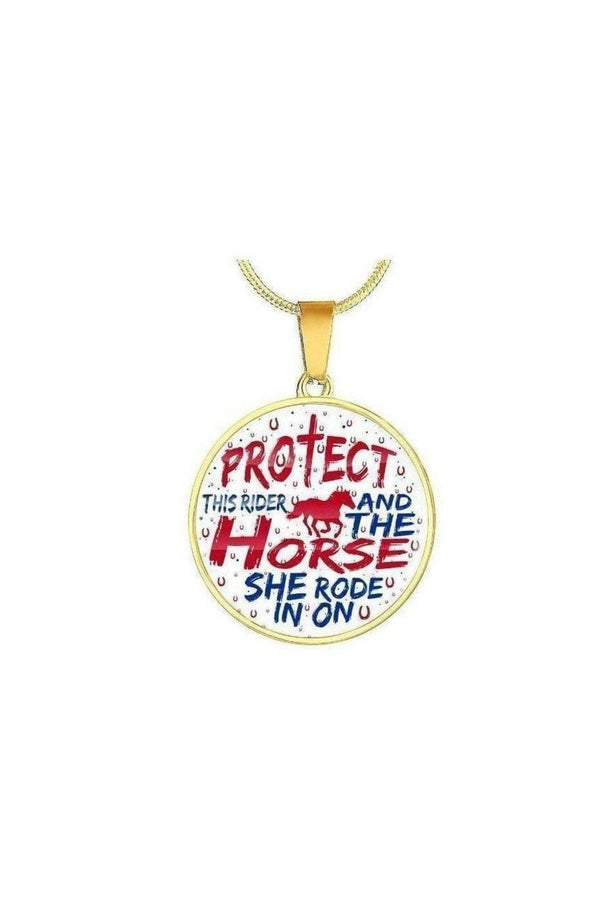 Protect the Rider and Horse - Necklace or Bangle-Jewelry-ShineOn Fulfillment-Luxury Necklace (Gold)-No-Three Wild Horses