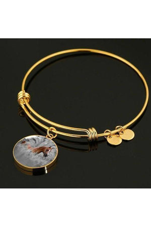 Personalized Steel Necklace and Bangle-Jewelry-ShineOn Fulfillment-Luxury Bangle (Gold)-No-Three Wild Horses