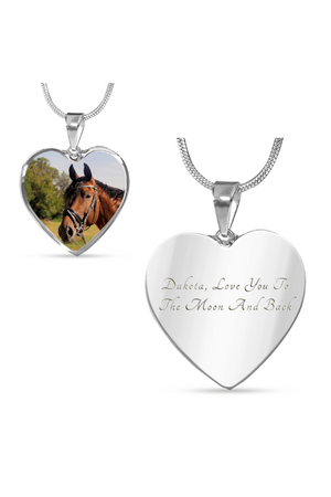 Custom Photo Necklace or Bangle-Jewelry-ShineOn Fulfillment-Luxury Necklace (Silver)-Yes-Three Wild Horses