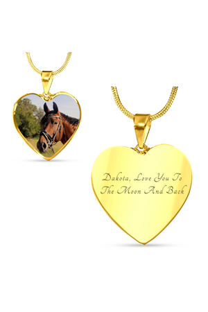Custom Photo Necklace or Bangle-Jewelry-ShineOn Fulfillment-Luxury Necklace (Gold)-Yes-Three Wild Horses