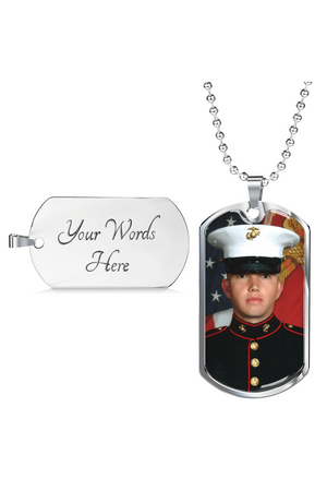Custom Photo Necklace-Jewelry-ShineOn Fulfillment-Military Chain (Silver)-Yes-Three Wild Horses