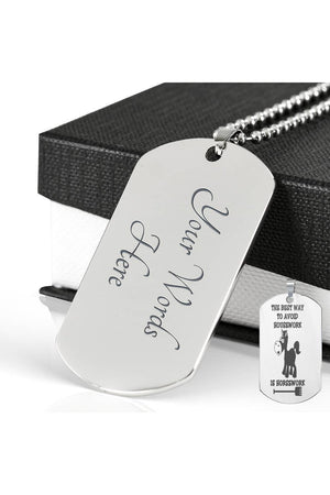 Horse Style Dog Tag Necklace-Silver Color-Jewelry-ShineOn Fulfillment-Engraved Dog Tag Stainless-Yes-Three Wild Horses