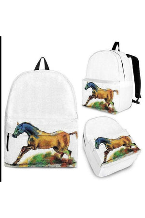 Dark Khaki Running Horse Backpack