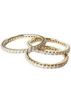 Rosy Brown Diamond Eternity Ring Slim band