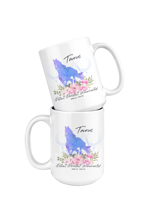 Taurus Zodiac Horse - Coffee Mug-Drinkware-teelaunch-Taurus Blue Horse Coffee Mug-Three Wild Horses