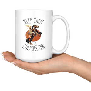 Snow Keep Calm & Cowgirl On Mug