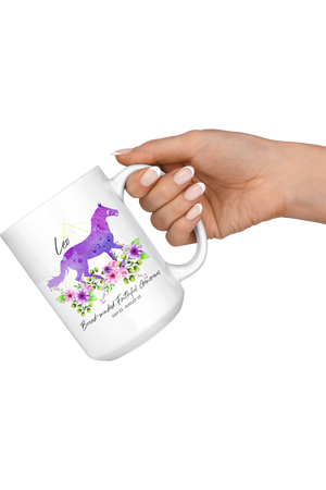 Leo Zodiac Horse Coffee Mug-Drinkware-teelaunch-Leo Purple Horse Mug-Three Wild Horses