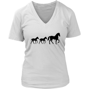Light Gray Two Foal - T-Shirt