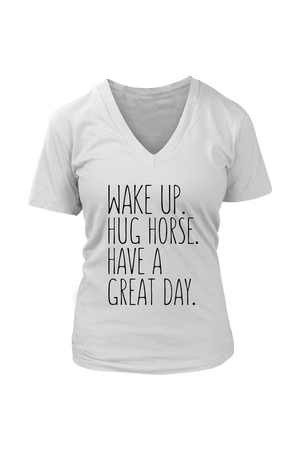 Gray Hug Horse Have A Great Day Horse T-Shirt