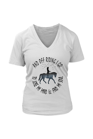 Gray And Off Riding I Go - T-Shirt in White