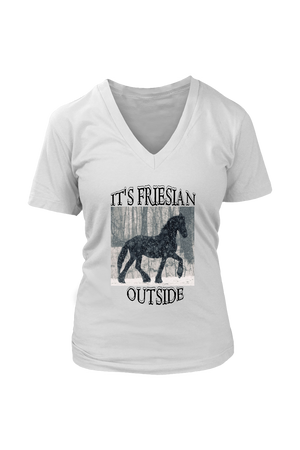 Gray It's Friesian Outside T-Shirt