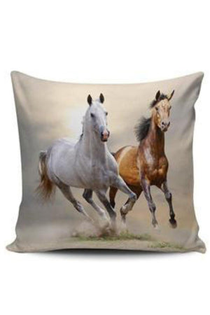 Gray Premium Poly-Cotton Cushion Cover