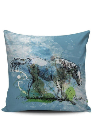 Cadet Blue Premium Poly-Cotton Cushion Cover