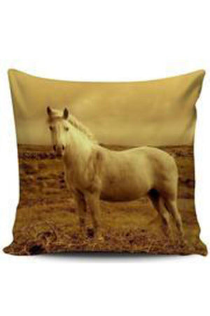 Dark Khaki Premium Poly-Cotton Cushion Cover