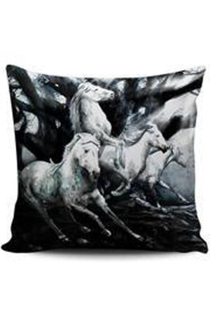 Black Premium Poly-Cotton Cushion Cover