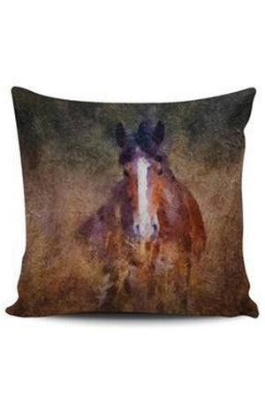 Saddle Brown Premium Poly-Cotton Cushion Cover