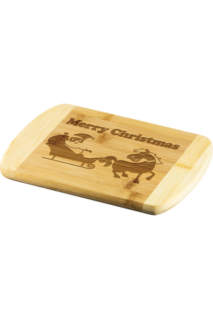 Merry Christmas Cutting Board-Wood Cutting Boards-teelaunch-Round Edge Cutting Board-Three Wild Horses