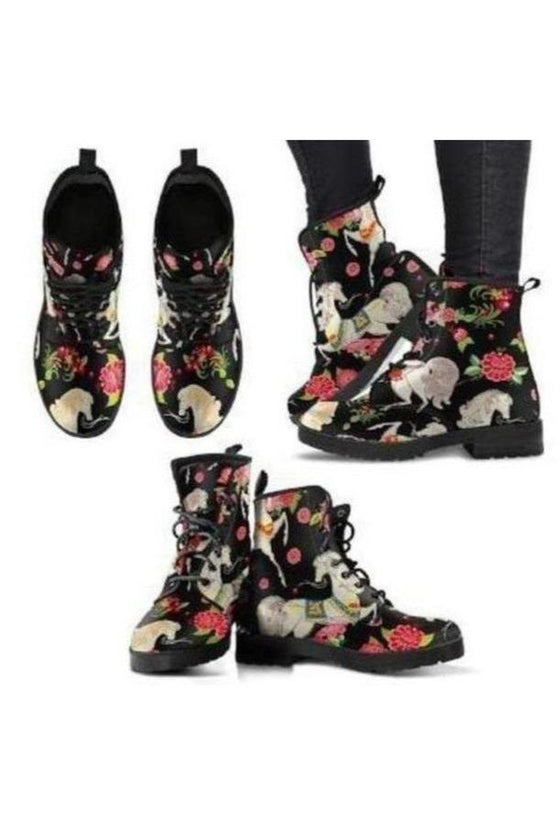 Horse Pattern PU Leather Boots