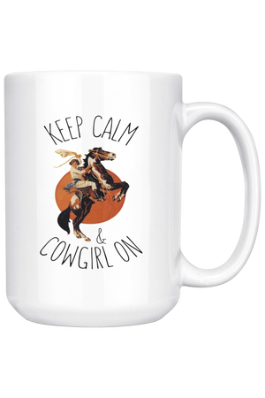 Sienna Keep Calm & Cowgirl On Mug