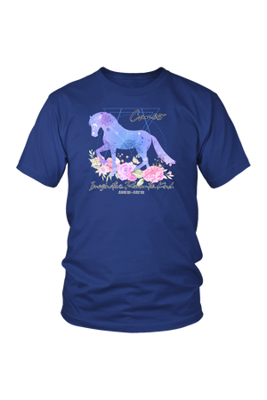 Cancer Horse Unisex Shirt-T-shirt-teelaunch-District Unisex Shirt-Royal Blue-S-Three Wild Horses