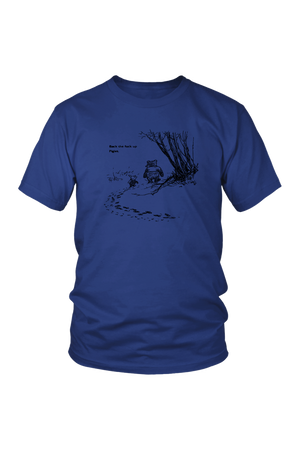 Pooh + Piglet Funny Tops NSFW-T-shirt-teelaunch-Unisex Tee-Royal Blue-S-Three Wild Horses