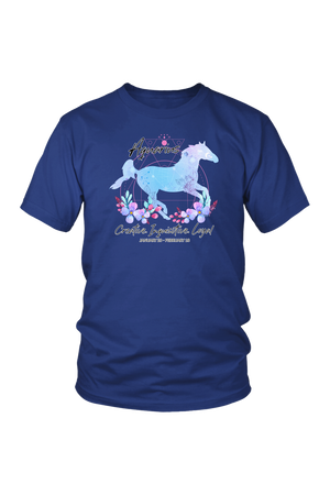 Aquarius Horse Unisex Shirt-T-shirt-teelaunch-District Unisex Shirt-Royal Blue-S-Three Wild Horses
