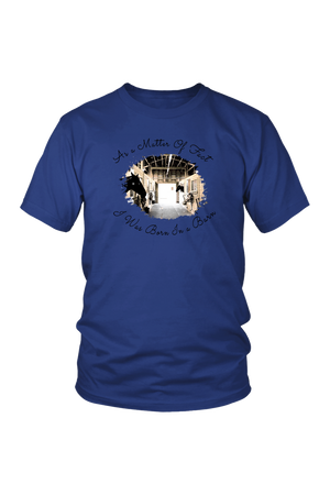 Born In A Barn - Tops-T-shirt-teelaunch-Unisex Tee-Royal Blue-S-Three Wild Horses