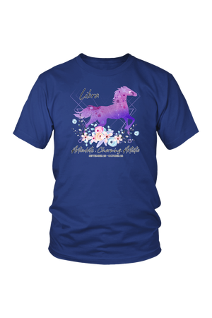 Libra Horse Unisex Shirt-T-shirt-teelaunch-District Unisex Shirt-Royal Blue-S-Three Wild Horses