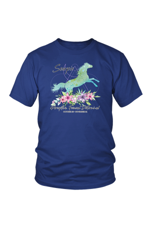 Scorpio Horse Unisex Short-T-shirt-teelaunch-District Unisex Shirt-Royal Blue-S-Three Wild Horses