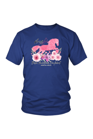 Aries Horse Unisex Shirt-T-shirt-teelaunch-District Unisex Shirt-Royal Blue-S-Three Wild Horses