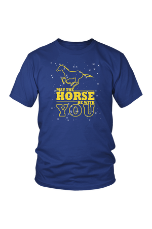 Midnight Blue May The Horse Be With You - T-Shirt