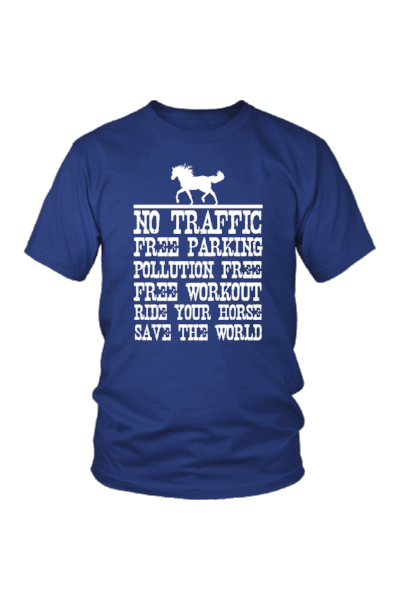 Ride Your Horse, Save the World - Tops-Tops-teelaunch-Unisex Tee-Royal Blue-S-Three Wild Horses