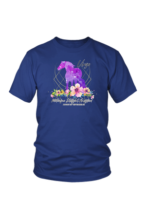 Virgo Horse Unisex Shirt-T-shirt-teelaunch-District Unisex Shirt-Royal Blue-S-Three Wild Horses