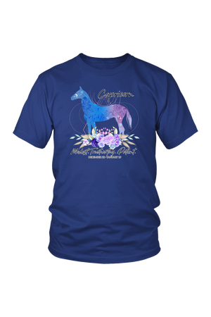Capricorn Horse Unisex Shirt-T-shirt-teelaunch-District Unisex Shirt-Royal Blue-S-Three Wild Horses
