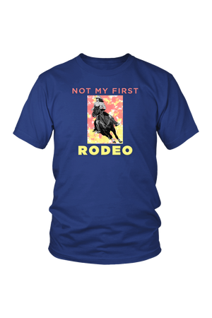 Not My First Rodeo Horse Shirt-T-shirt-teelaunch-Unisex Tee-Royal Blue-S-Three Wild Horses