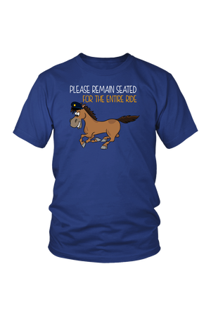 Replacement Tee - Please Remain Seated-Tops-teelaunch-District Unisex Tee-Royal Blue-S-Three Wild Horses