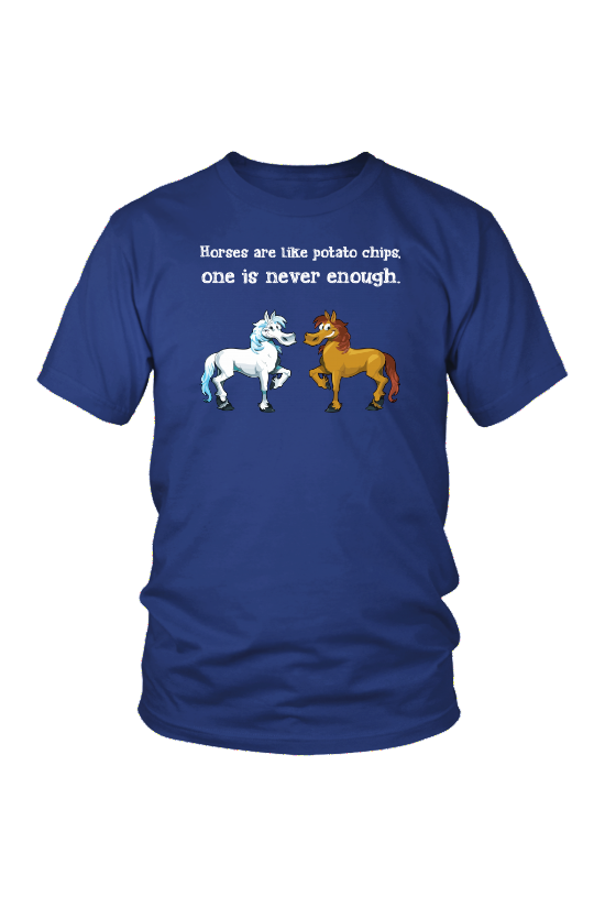 Horses Are Like Potato Chips - Tops-Tops-teelaunch-Unisex Tee-Royal Blue-S-Three Wild Horses