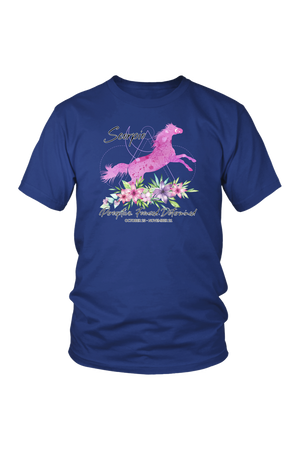 Scorpio Horse Unisex Shirt-T-shirt-teelaunch-District Unisex Shirt-Royal Blue-S-Three Wild Horses